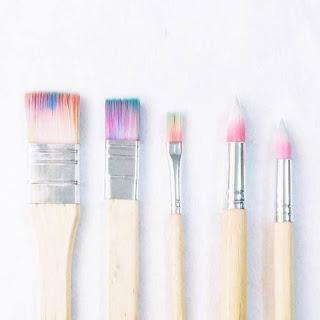 pinceles pastel