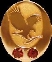 gold pin do garnets degi