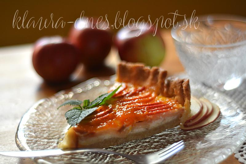 231/365     Jablkový koláč s vanilkovým krémom