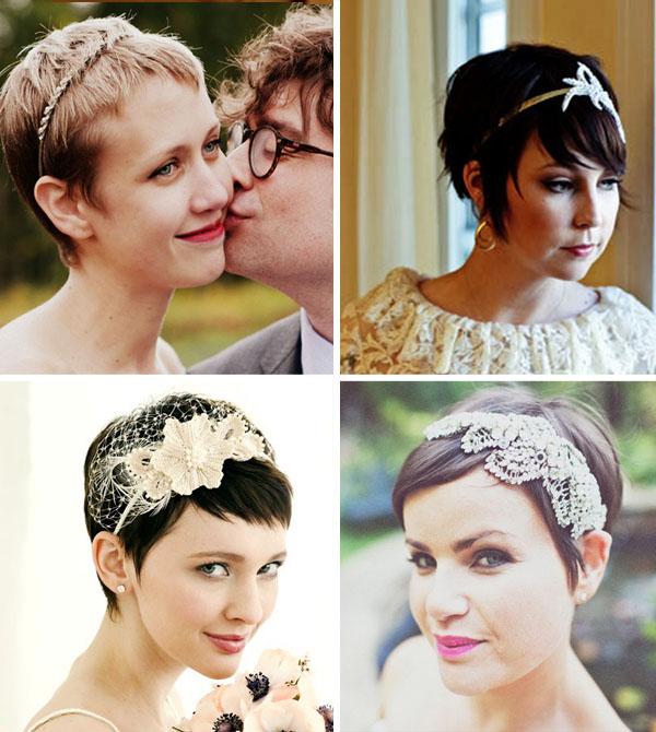 Top Acconciature da sposa per i capelli corti BX04