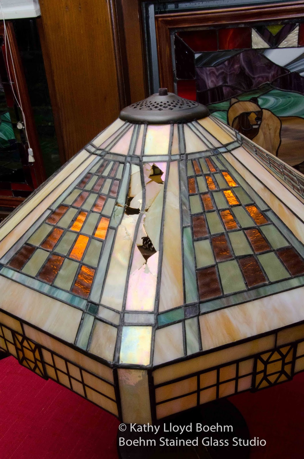 Boehm Stained Gl Blog Frank Lloyd Wright Style Lamp Repair