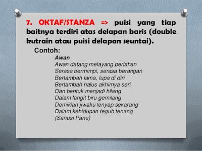 Pengertian Dan 7 Contoh Puisi Oktaf atau Stanza dalam Bahasa Indonesia