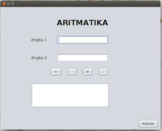 Itu dia tadi Contoh Program Aritmatika Sederhana di Java Netbeans IDE