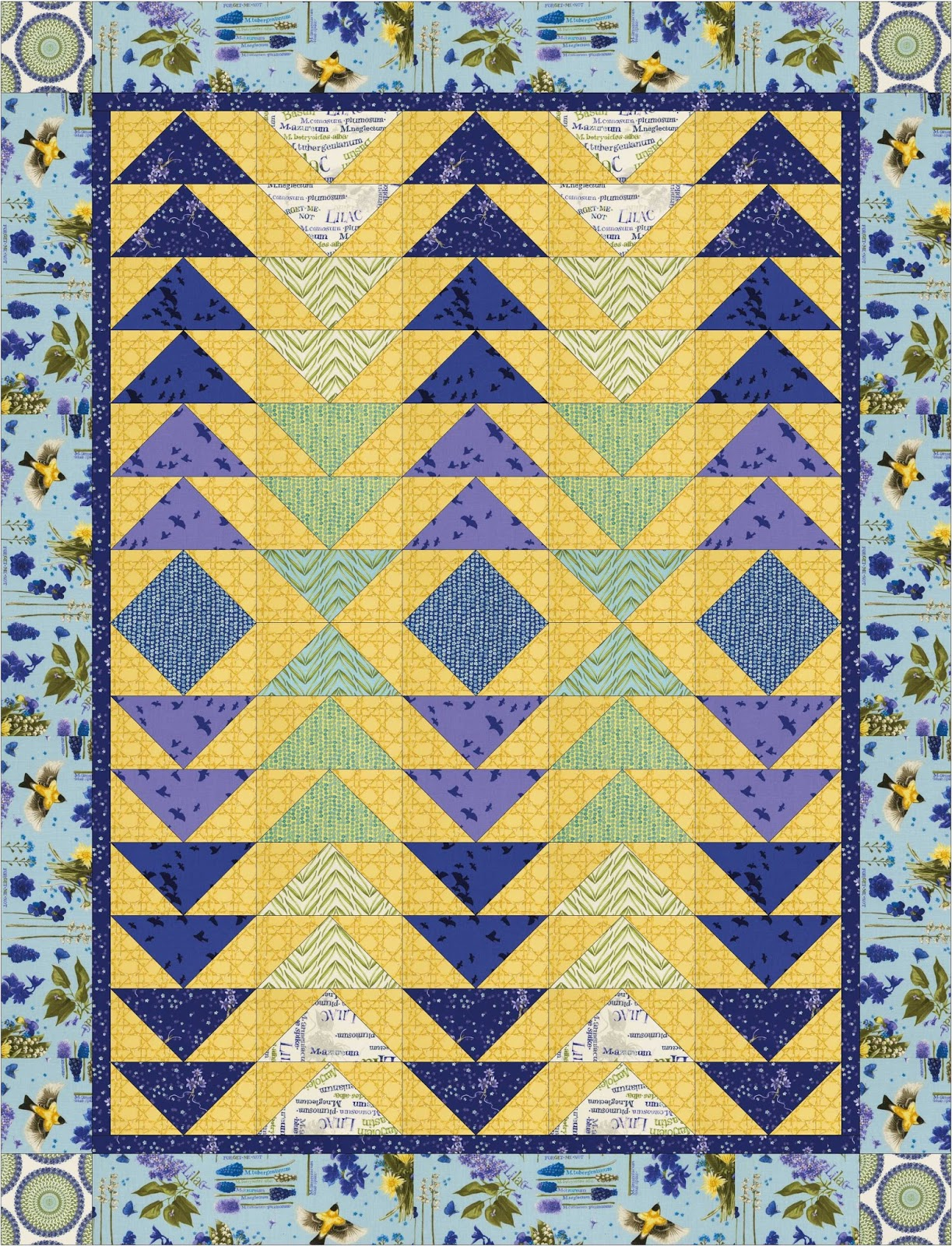 Quilt Inspiration: Free Pattern Day! Flying Geese Quilts