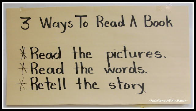 photo of: Three Ways to Read a Book Anchor Chart