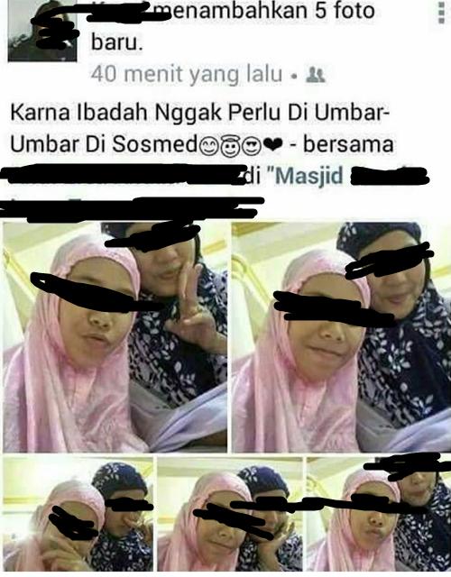 Jangan Sampai Pahala Ramadhan Terbuang Percuma, Masa Selfie Pas Tarawih? Share Biar Sadar!