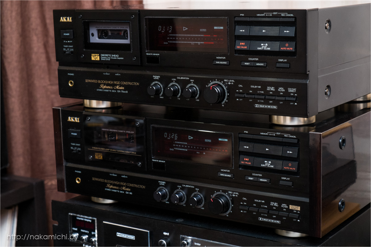 vintage audio stereo cassette deck akai gx 95 and gx 75mkii. Black Bedroom Furniture Sets. Home Design Ideas