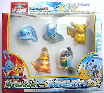 Manaphy figure new pose version Tomy Monster Collection AG Manaphy 5pcs set