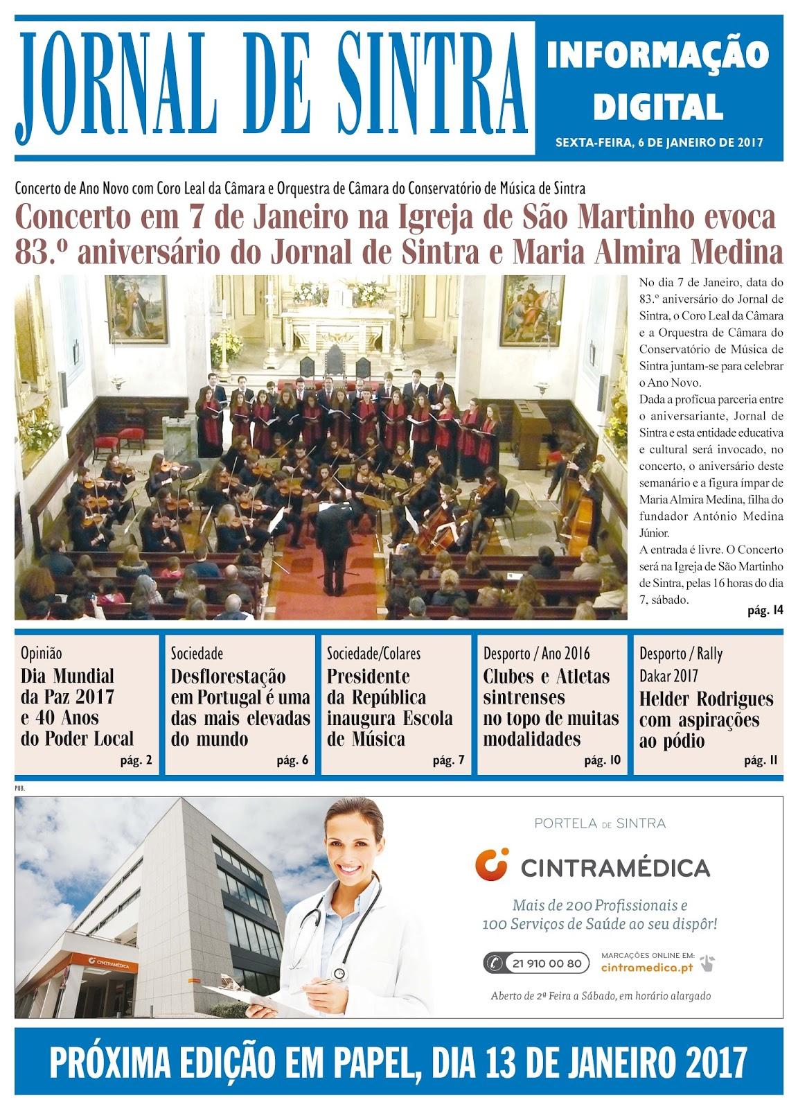 Capa da edição de 06-01-2017