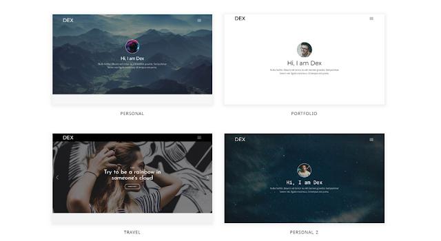 Modern Blog/Portfolio Blogger Theme