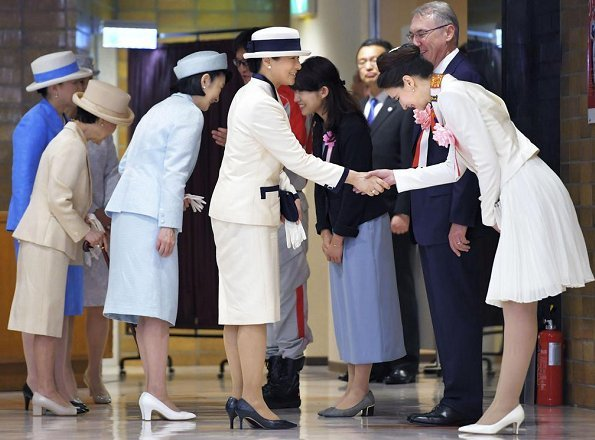 Crown Princess Kiko, Princess Hanako of Hitachi, Princess Nobuko of Mikasa, and Princess Hisako of Takamado