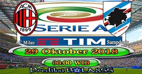 Prediksi Bola855 AC Milan vs Sampdoria 29 Oktober 2018
