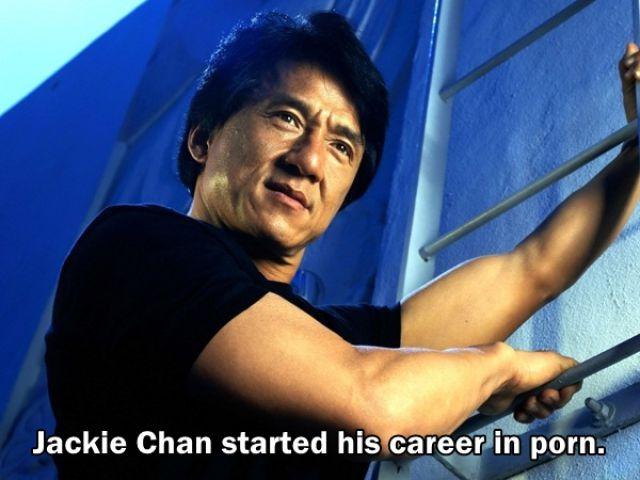 Jacky Chan Memulai karir filmnya dengan membintangi film porno