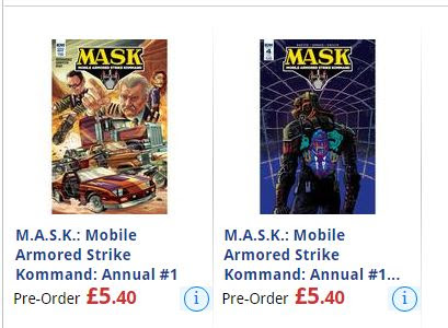 IDW's M.A.S.K. Annual - Buyers Beware!!