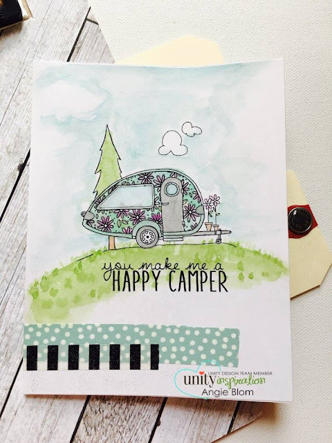 Unity Stamp Company: Stamp of the Week - Camper Bliss #unitystampco #sotw #campervan #camperbliss #motorhome #card #cardmaking #papercraft