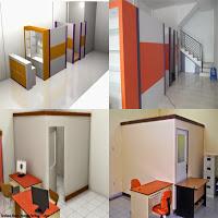 Contoh Desain Sekat Partisi - Furniture Semarang