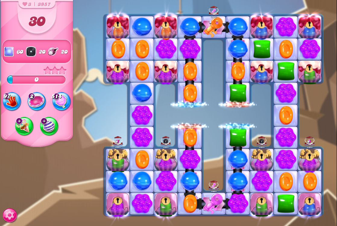 Candy Crush Saga level 3957