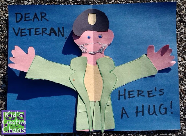 Hug a hero project for Veteran's Day.