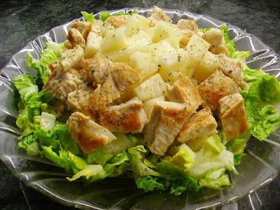 Ensalada de pollo y peras
