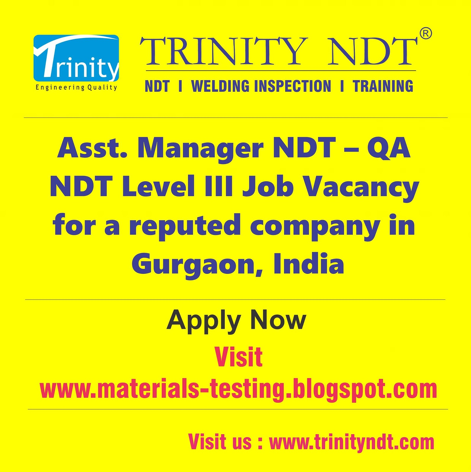 NDT Welding Training Institute Course Cameroon Nigeria Delhi Cochin