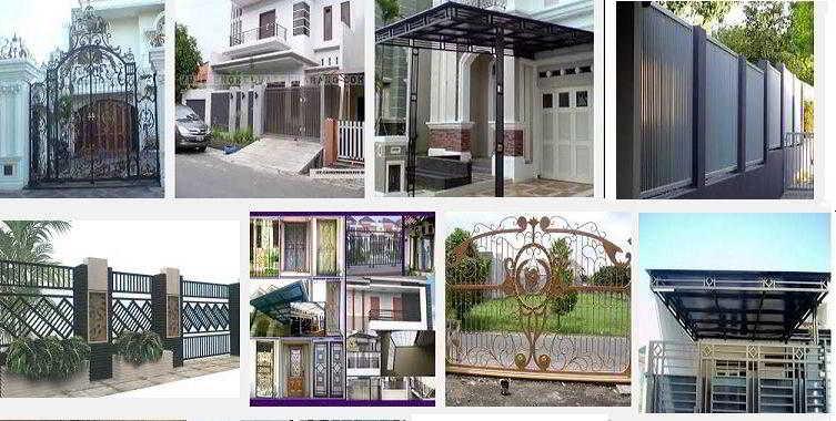 Desain Pagar Besi Rumah Minimalis Modern