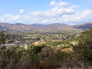 View north from South Hills toward Glendora and the San Gabriel Mountains