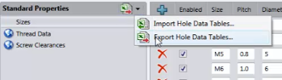 Export Hole Data Tables LeniSW