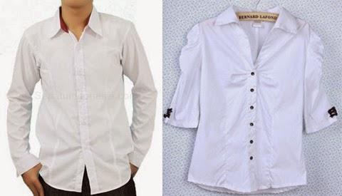 model baju kemeja putih
