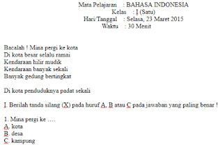 Soal-Ulangan-Semester-2-UTS-BAHASA-INDONESIA-kelas-1-SD