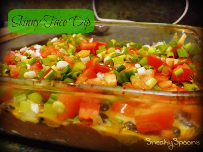 Skinny Taco Dip | SneakySpoons