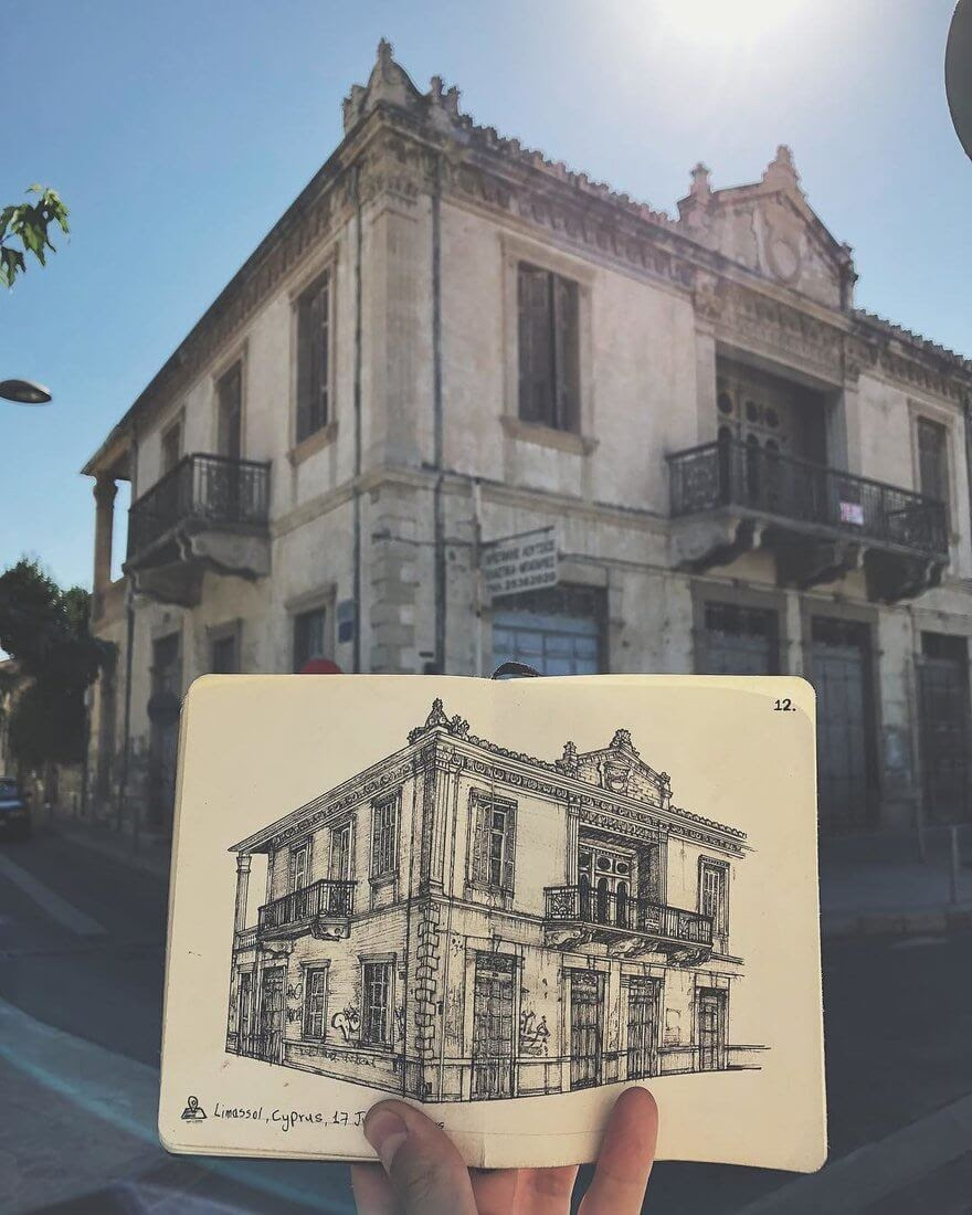 08-Old-house-Cyprus-Alex-Pantela-Ink-Urban-Architectural-Drawings-www-designstack-co