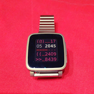 Ascii world wacthface - on Pebble Time Steel