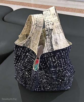Make a reusable fabric grocery bag ~ Threading My Way