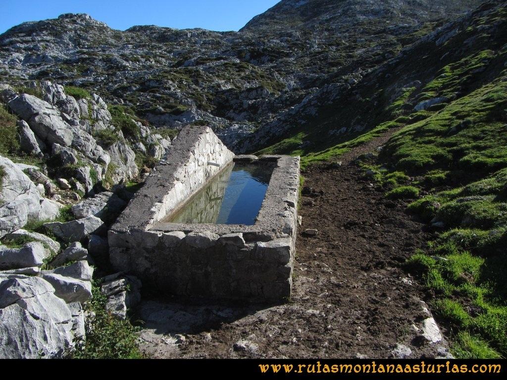 Ruta Ercina, Verdilluenga, Punta Gregoriana, Cabrones: Nueva fuente en las inmediaciones de la Camperona