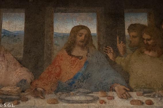Jesus en la ultima cena de Leonardo Da Vinci. MIlan
