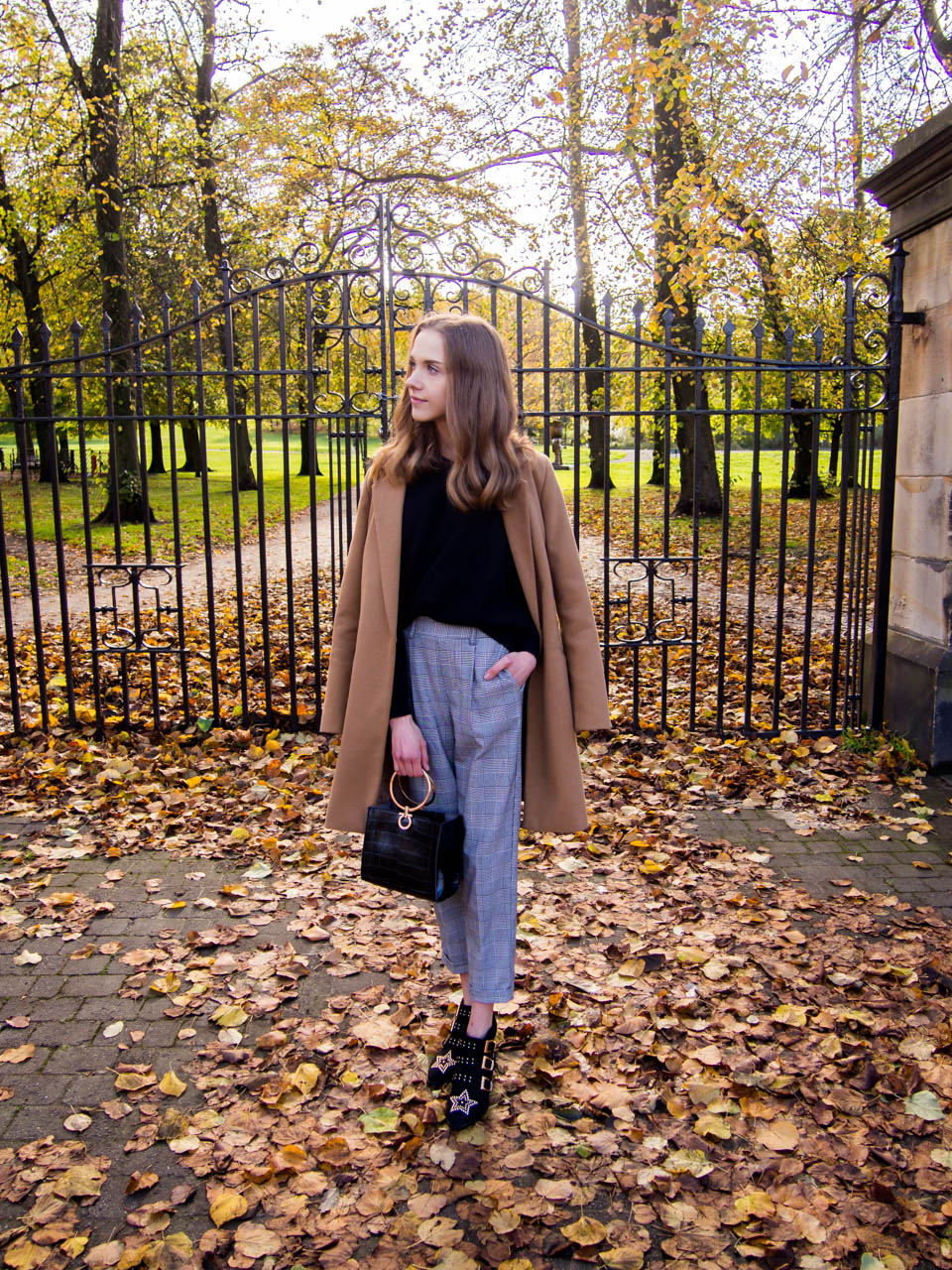 autumn-outfit-fashion-blogger-camel-coat-and-check-trousers