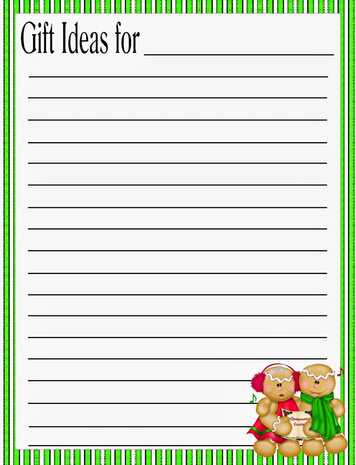 Christmas T Ideas Planner Printable