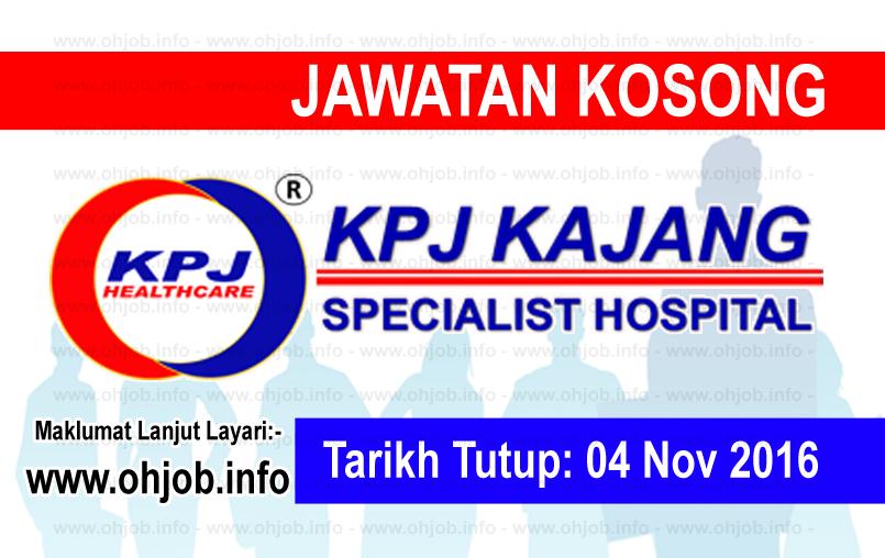 Jawatan Kerja Kosong KPJ Kajang logo www.ohjob.info november 2016