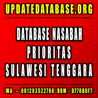 Jual Database Nasabah Prioritas Sulawesi Tenggara