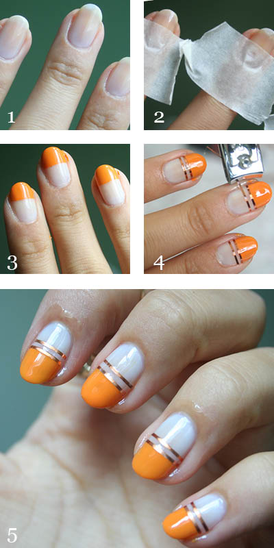 Manicure Monday Striping Tape Nail Art Guest Post - A Little Obsessed