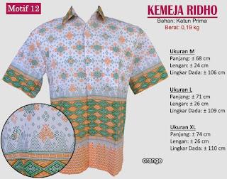 Grosir kemeja batik pria murah dan berkualitas (batik pekalongan)- ridho motif 12