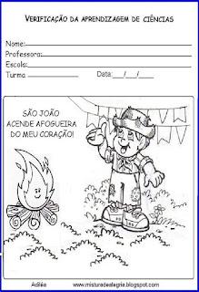 Capa avaliação 2º bimestre festa junina