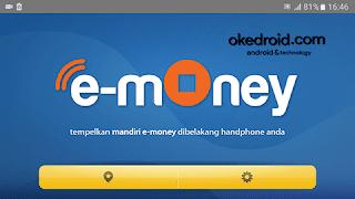 Tampilan Menu Utama Aplikasi e money mandiri info android