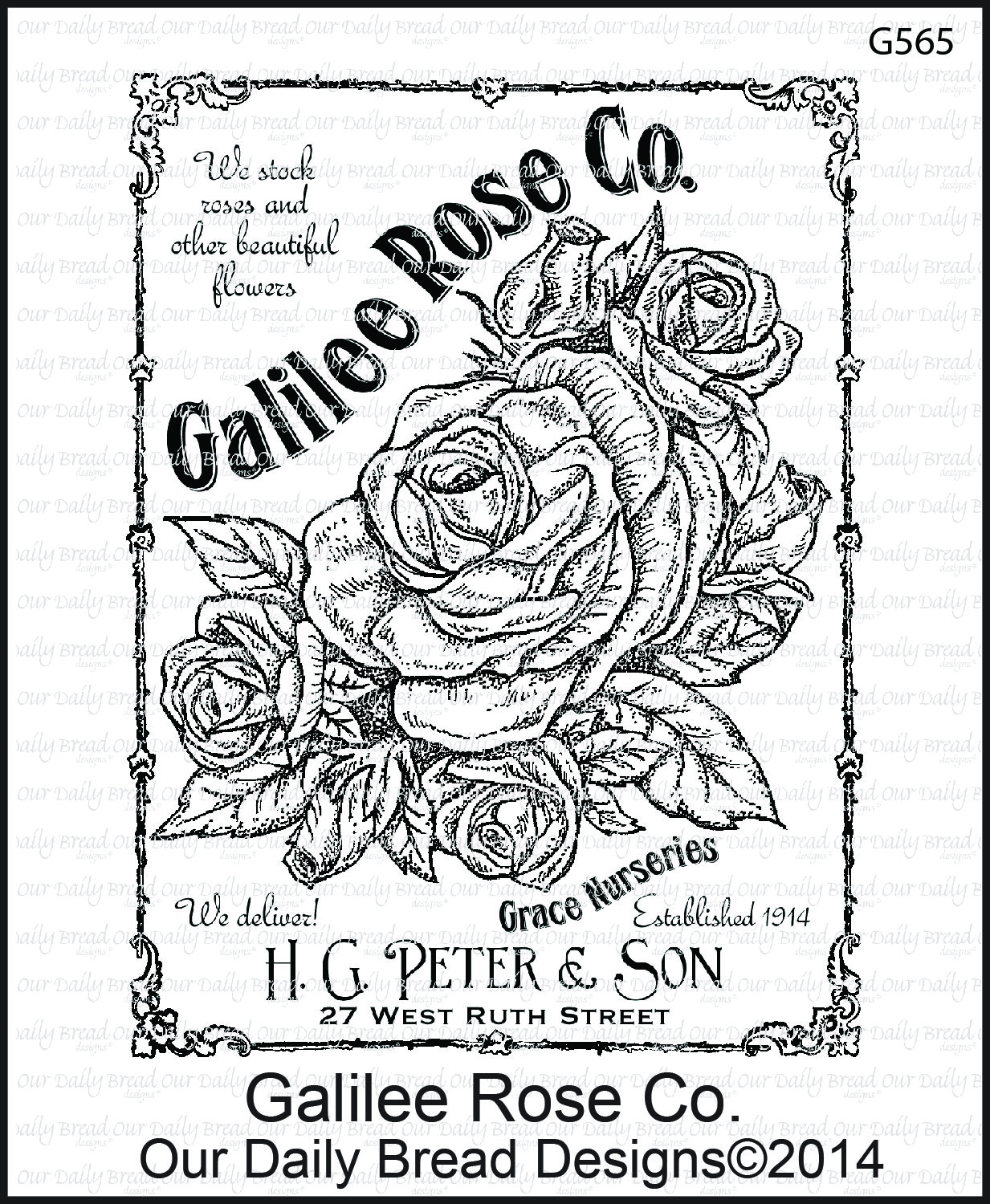 Stamps - Our Daily Bread Designs Galilee Rose Co.