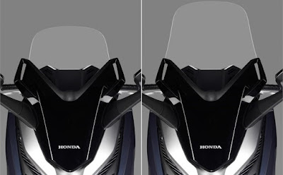 Honda Forza 300 2018 atau Forza 250 flexible windshield electris