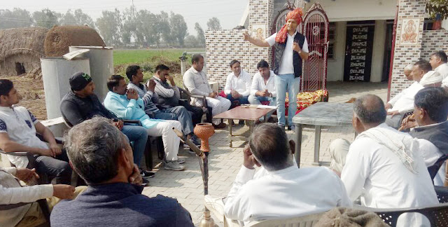 BJP leader Sohan Pal Singh visits the success of the Jind rally