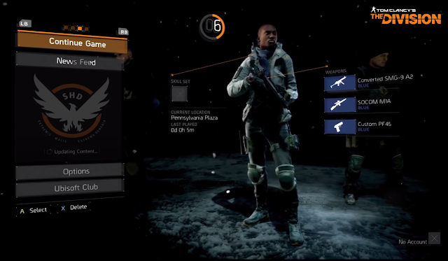 Tom Clancy's The Division character swap change creation