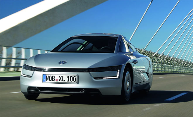 Volkswagen XL1 production car front view