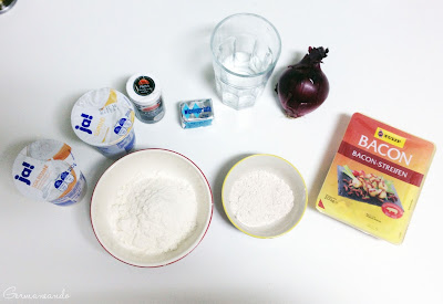 Ingredientes del Flaumkuchen, Flammkuchen Zutaten