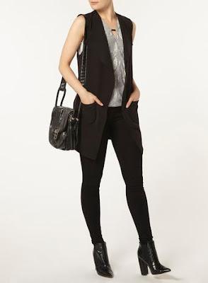 Black sleeveless jacket, $59 from Dorothy Perkins